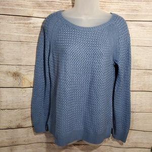 LOFT blue wool sweater